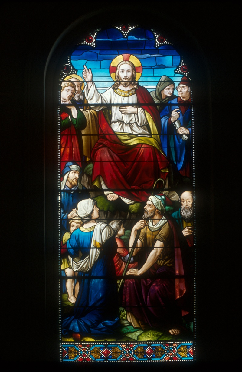 Sermon on the Mount Restored - Adams Morgan Stained Glass