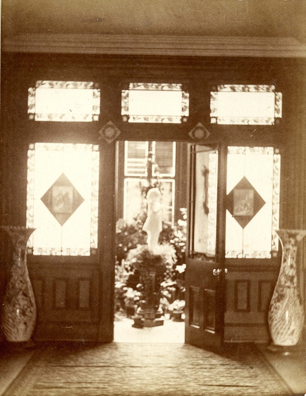 Vintage Photo Gallaudet Victorian Plant Cabinet Entrance Windows 1868