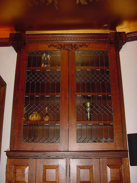Built-in Leaded Cabinet Door Panels Residence NW Washington DC - Historic  Reproduction