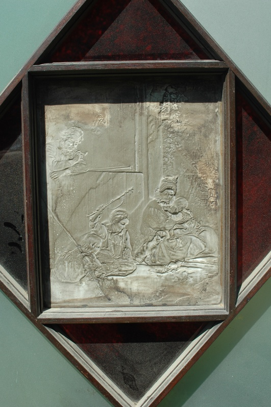 "German Porcelian  Lithophane ""Family Scene"" 1856"