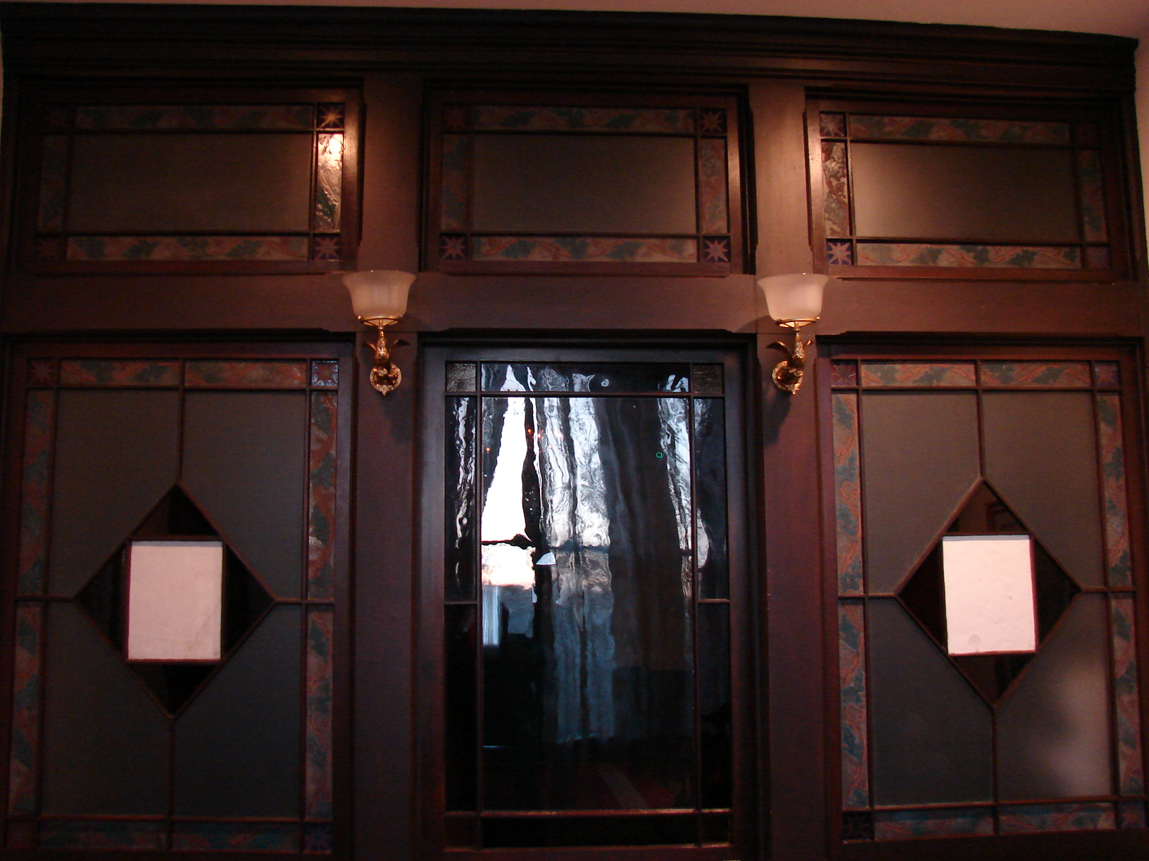 Victorian Plant Cabinet  Restored Windows and Door Re-installed December 2012