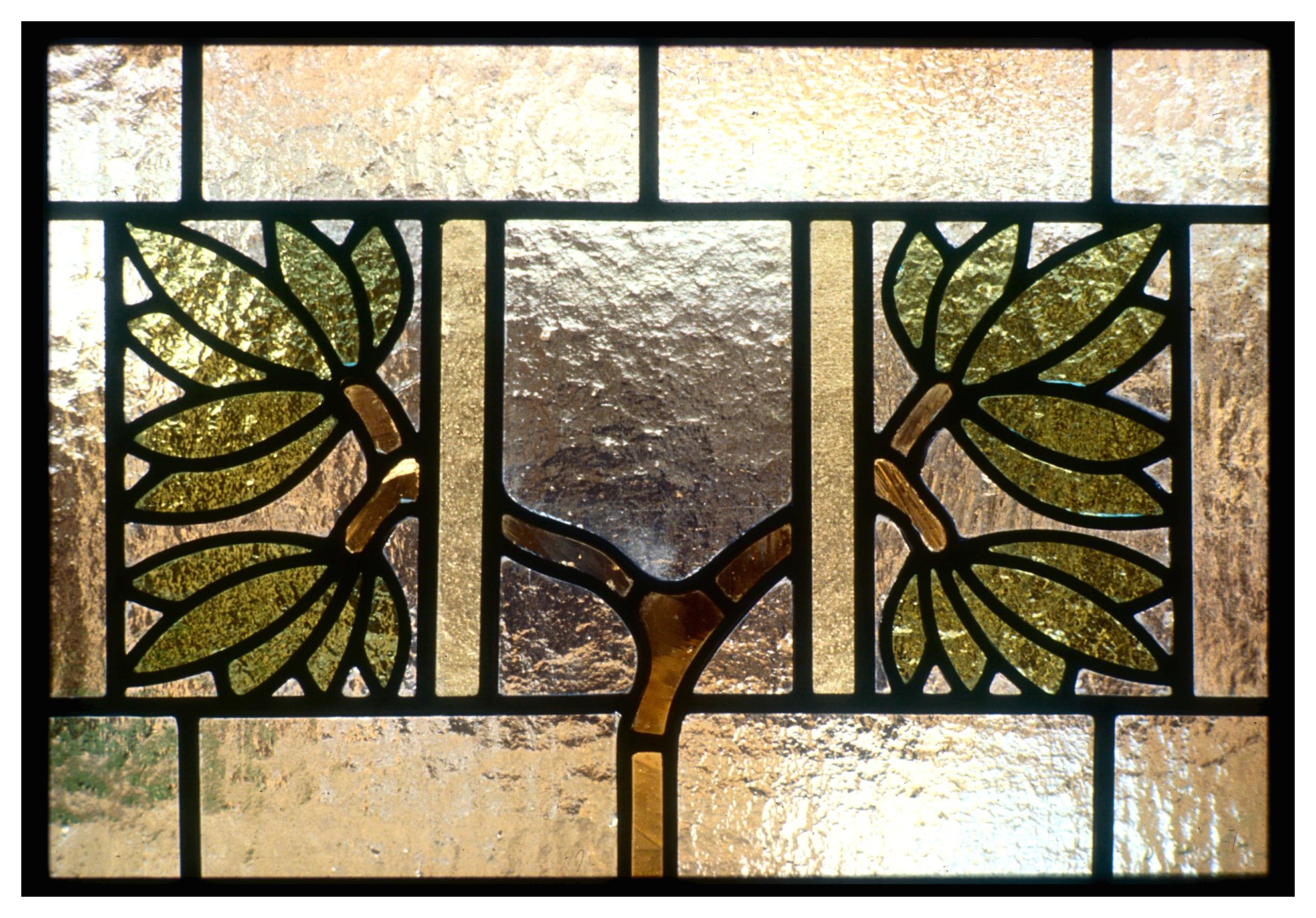 Arts and Crafts Library Window Detail