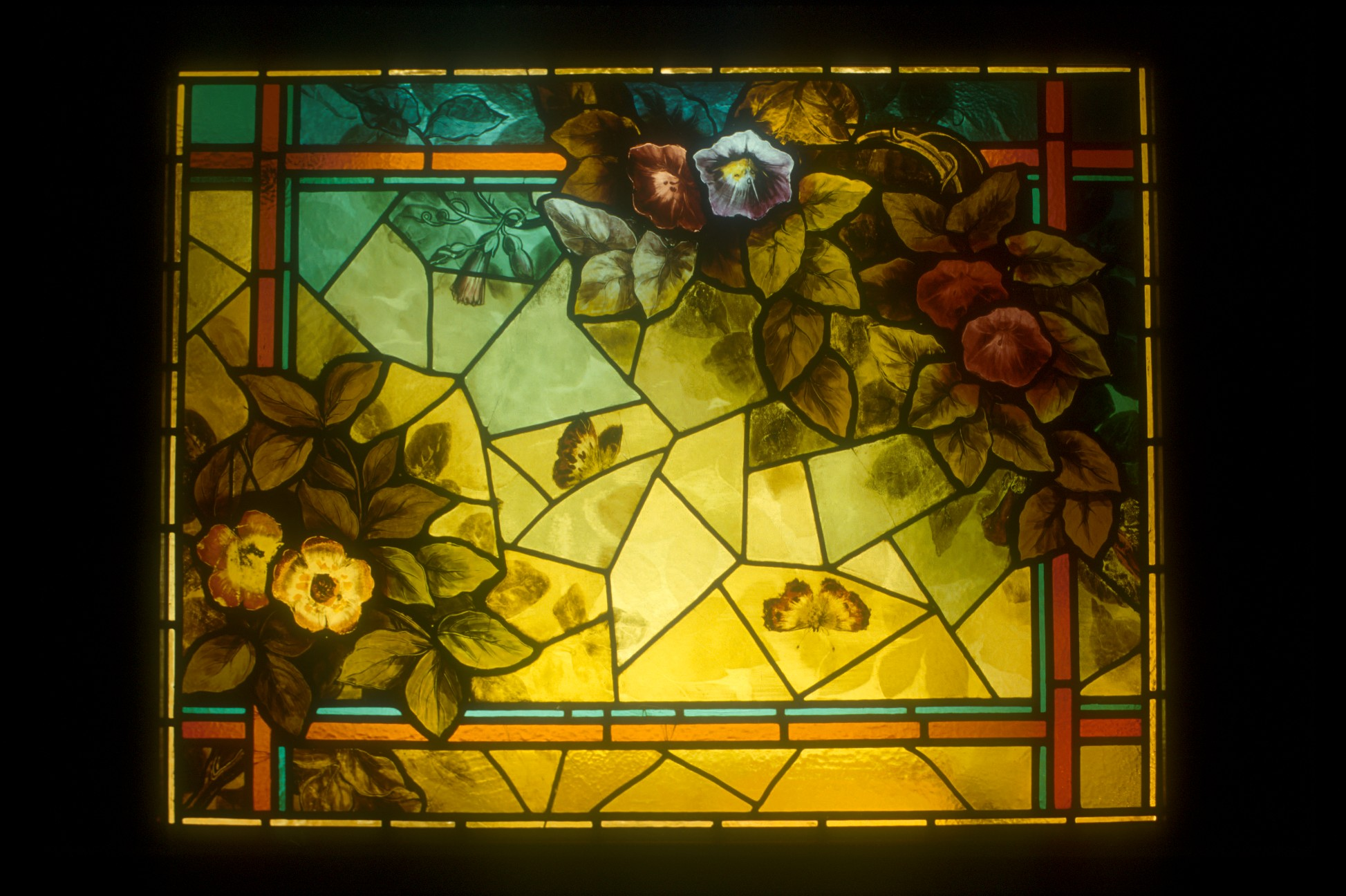 Morning Glory Window  Residential Chapel Glen Echo Maryland  circa 1880 - Restoration