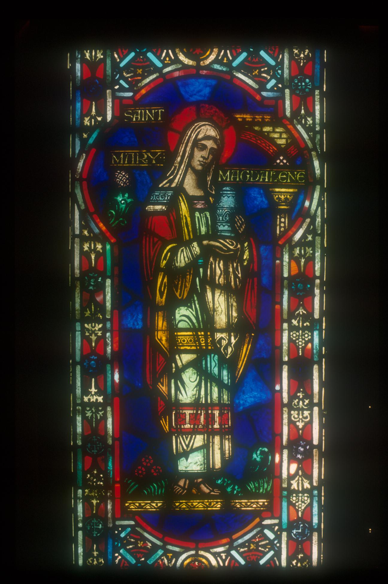Mary Magdelaine Church Window circa 1890 - Restoration